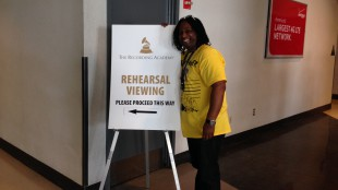 680News music reporter Rudy Blair attends Grammy rehearsals in Los Angeles on Jan. 23, 2014. 680NEWS/Rudy Blair.