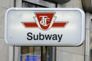 TTC subway sign