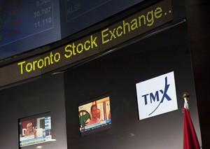 The Toronto Stock Exchange Broadcast Centre is shown in Toronto on June 28, 2013.THE CANADIAN PRESS/Aaron Vincent Elkaim