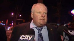 Mayor Rob Ford visits Rexdale fire site