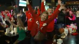 Toronto fans erupt when Canadian women's hockey team wins gold