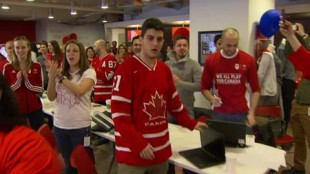 Watching hockey at work could be good for you