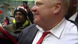 Crowds swarm Mayor Ford following Team Canada win