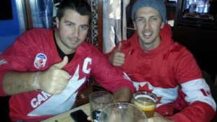 Team Canada fans at Gretzky's celebrate after Canada beat Norway 3-1 in men's Olympic hockey. KEVIN MISENER/680NEWS