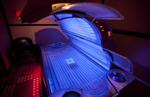 A tanning bed is seen in North Vancouver, March, 20, 2012. THE CANADIAN PRESS/Jonathan Hayward