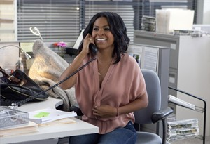 """This photo provided by Lionsgate shows Nia Long as May in a scene from Tyler Perry's film """"The Single Moms Club."""" (AP Photo/Lionsgate, K C Bailey)"""