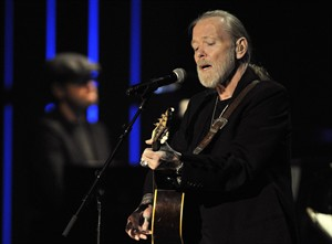 File- This Oct. 13, 2011 file photo shows Greg Allman, winner of the 2011 Americana Lifetime Achievement Performer Award, performing at the Americana Music Association awards show in Nashville, Tenn. Bronchitis has sidelined Allman for at least two dates of the Allman Brothers Band's annual shows at the Beacon Theatre, but his rep says the musician hopes to return to the stage in a few days. (AP Photo/Joe Howell, File)
