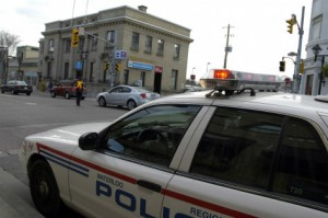 A Waterloo Regional Police Service cruiser sits parked at an intersection in Waterloo, Ont., in a May 11, 2005 file photo. FLICKR/Will Spaetzel