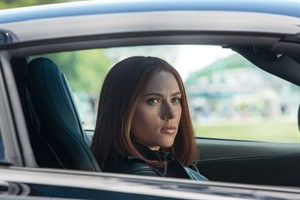 """This image released by Marvel shows Scarlett Johansson in a scene from """"Captain America: The Winter Soldier."""" (AP Photo/Marvel-Disney)"""