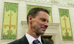 Nigel Wright, chief of staff for Prime Minister Stephen Harper, is shown appearing as a witness at the Standing Committee on Access to Information, Privacy and Ethics on Parliament Hill in Ottawa on Nov. 2, 2010. RCMP officials say Nigel Wright, former chief of staff to Prime Minister Stephen Harper, won't face criminal charges in connection with the ongoing Senate expenses scandal. THE CANADIAN PRESS/Sean Kilpatrick