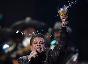 In this Nov. 5, 2009 photo, Juan Gabriel performs in Las Vegas. THE CANADIAN PRESS/AP, Matt Sayles