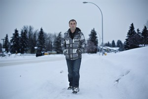 Mountie Jeff Whipple pictured in Spruce Grove, Alta., on Monday, December 30, 2013. Whipple, who suffers from post-traumatic stress over the infamous shooting in Mayerthorpe, Alta. - in which four colleagues were killed - is protesting his release from the police force for medical reasons. THE CANADIAN PRESS/Jason Franson