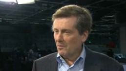 John Tory reacts to Jim Flaherty's death