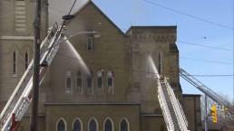Crews battle fire at Church in Aurora