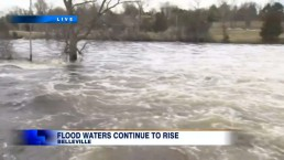 Flood waters continue to rise in Belleville