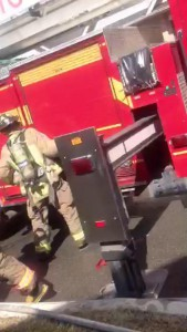Viewer video of Scarborough townhouse fire