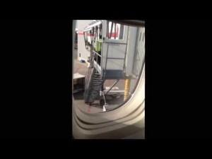 Air Canada baggage fail 20 ft bag toss in Toronto
