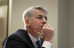 FILE - This Feb. 6, 2012, file photo, shows William Ackman, of Pershing Square Capital Management, in Toronto. It was announced Monday, May 12, 2014, that Botox maker Allergan is rejecting a takeover bid from Valeant Pharmaceuticals, saying that the unsolicited bid worth nearly $46 billion undervalues the company and carries significant risk. Shortly after Canada's Valeant and activist investor Ackman made their offer public last month, Allergan announced a so-called poison pill plan, a defensive tactic that makes a buyout prohibitively expensive. (AP Photo/The Canadian Press, Pawel Dwulit, File)