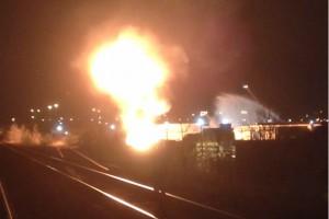 Image from an explosion at a Brampton propane facility, May 7, 2014. CITYNEWS VIEWER/Thomas Kolodziejski