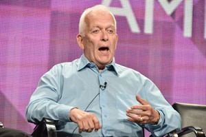 "Writer Andrew Davies speaks during the ""A Poet in New York'"" portion of the BBC America 2014 Summer TCA on Wednesday, July 9, 2014, in Beverly Hills, Calif. (Photo by Richard Shotwell/Invision/AP)"