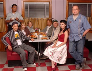"""The cast of """"Corner Gas: The Movie"""" poses on the set of the movie in Saskatchewan. THE CANADIAN PRESS/ho, Bell Media"""