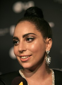 Recording artist Lady Gaga attends a Tony Bennett and Lady Gaga concert taping on Monday, July 28, 2014, in New York. (Photo by Andy Kropa/Invision/AP)
