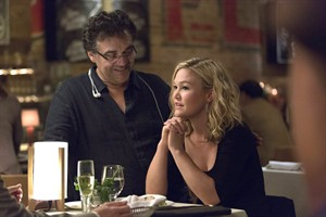 """Writer-director Rodrigo Garcia with actor Julia Stiles on the set of the series """"Blue."""" THE CANADIAN PRESS/HO-CTV"""