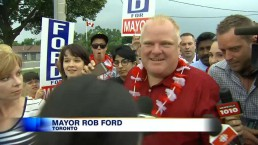 Mayor Ford heckled, praised at Canada Day parade