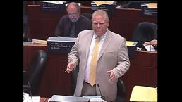 Doug Ford gets into heated debate over mayor's code of conduct violation