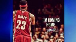 Cleveland celebrates return of Lebron James