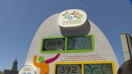 Pan Am Games countdown clock unveiled at Nathan Phillips Square