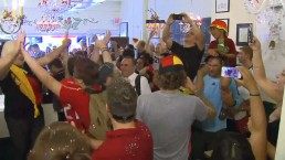 Germany fans celebrate World Cup victory