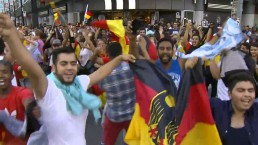 Fans celebrate as Germany beats Argentina in the World Cup