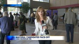 Mayoral candidates including Ford face off in Scarborough