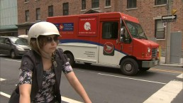 Canada Post driver unleashes anger on cyclist
