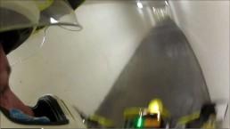 RAW: Motorcyclist rides through Carleton University tunnels