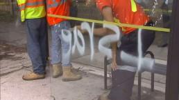 Anti-Semitic graffiti found sprayed on Thornhill bus shelter