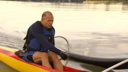 Officer paddling around Toronto Islands for food banks