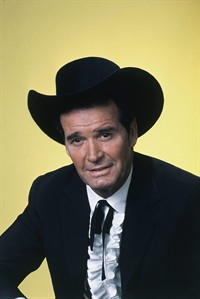 """FILE - Actor James Garner is shown in character in this April 7, 1982 file photo. Actor James Garner, wisecracking star of TV's """"Maverick"""" who went on to a long career on both small and big screen, died Saturday July 19, 2014 according to Los Angeles police. He was 86. (AP Photo/NBC, File)"""