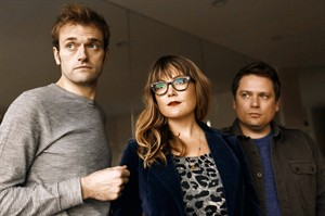 This undated image released by Nonesuch shows members of Nickel Creek, from left, Chris Thile, Sara Watkins and Sean Watkins. The trio of musicians from Nickel Creek grew up performing together, but ultimately it was the nearly seven years spent concentrating on their own separate musical interests that made returning to the stage together all the more exciting. They reunited last year in Los Angeles with the modest goal of a small 25-city tour to mark 25 years since the band formed and an EP of new songs. That quickly blossomed into a full-length album and they are starting on the expanded second leg of that tour in July, including stops at Forecastle Festival in Louisville, Kentucky, and the Newport Folk Festival in Rhode Island. (AP Photo/Nonesuch)