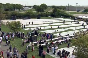 Thousands of people packed a Mississauga park to celebrate Eid-al-Fitr on Aug. 19, 2012. CITYNEWS.