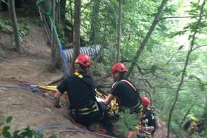 Ravine rescue