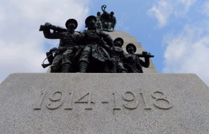 The dates of the First World War are displayed on the National War Memorial in Ottawa on Wednesday July 30, 2014. The Canadian government will commemorate the war on Monday Aug 4, 2014. THE CANADIAN PRESS/Sean Kilpatrick