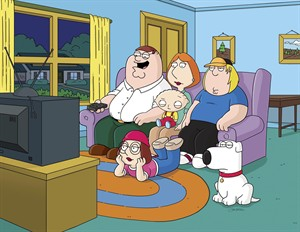 """This image released by Fox shows characters from the Fox animated series, """"Family Guy."""" THE CANADIAN PRESS/AP, Fox)"""