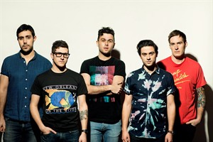 Arkells, from left to right: Nick Dika (bass), Anthony Carone (keyboard) ,Max Kerman (lead vocals/guitar), Mike DeAngelis (vocals/guitar) and Tim Oxford (drums). THE CANADIAN PRESS/ho- Brooks Reynolds