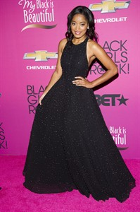 "FILE - This Oct. 26, 2013 file photo shows actress Keke Palmer at the BET Network's Black Girls Rock! in Newark, N.J. Palmer will be stepping into the title role in ""Rodgers & Hammerstein's Cinderella"" starting Sept. 9 at the Broadway Theatre. (Photo by Charles Sykes/Invision/AP, File)"