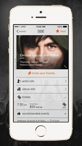 This product image provided by StubHub shows the company's StubHub Music app. The app, currently only for Apple iPhones, launched in San Francisco in June and expands to major cities nationwide Thursday, Aug. 7, 2014. The app scans your music library and recommends upcoming shows by your favorite artist. (AP Photo/StubHub)