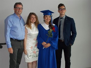 Kevin Garratt, left to right, Julia Dawn Garratt, Hannah Garratt and Simeon Garratt pose in this undated handout photo. The son of two Canadians being detained in China on suspicion of stealing state secrets says the allegations against his parents don't make any sense. Simeon Garratt says his parents were out for dinner with friends in the Chinese city of Dandong - near the border with North Korea - where they own a coffee shop, when they were detained Monday night. THE CANADIAN PRESS/HO - Garratt Family