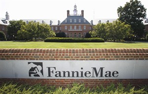 FILE - In this Aug. 8, 2011, photo, the Fannie Mae headquarters is seen in Washington. Fannie Mae reports quarterly financial results on Thursday, Aug. 7, 2014. (AP Photo/Manuel Balce Ceneta, File)