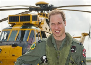 Prince William poses in front of a Sea King helicopter at RAF Valley in Anglesey Wales on June 1, 2012. THE CANADIAN PRESS/AP, SAC Faye Storer, MOD